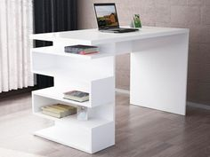 SNAKE office desk white  #shelving #table #desk #unique #tabledesign #boockasedesign #designerdesk #bedroomdesign #halfprice #studydesk