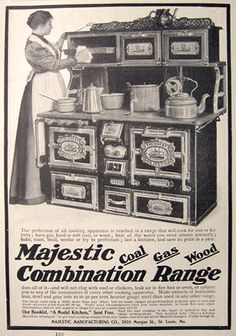 1899 Antique Majestic Coal~Gas~Wood Range Stove