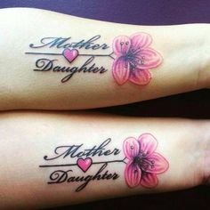 Mother and daughter matching tattoos