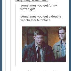 Best frozen gif ever! - Dean & Sam Winchester - Supernatural