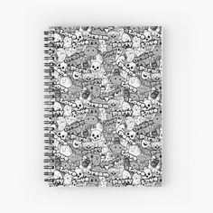 My Notebook, Love S, Spiral, My Arts, Skull, Art Prints, Printed, Awesome, Party