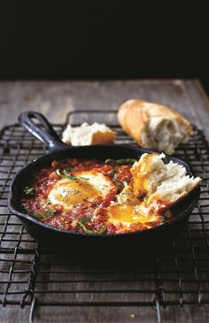 Mario Batali's Eggs In Hell - the chew - ABC.com - If you like spicy and cheesy this egg dish is for you!