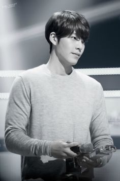 Kim Woo Bin - after seeing what an amazingly polite, dignified and respectful person he is on Running Man, he's jumped way high up on my list.. I love seeing them being themselves on that show.. he's so reserved, quiet.. he has a very endearing presence. You can see it in this expression.