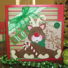 Reindeer CARD by: Sandra Moya from lshd.