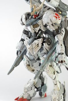 Project HG Gundam Barbatos Lupus Custom by Asrul Hazimin From the modeler. Gundam Flauros, Arte Gundam, Gundam Toys, Gundam Wing, Custom Paint Jobs, Custom Decals, Gundam Tutorial, Barbatos Lupus, Gundam Iron Blooded Orphans