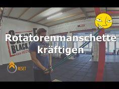 Training der Rotatorenmanschette - 6 Übungen - YouTube Workshop, Stretch Bands, Bodybuilding, Videos, Basketball Court, Train, Youtube, Fitness Workouts, Sports