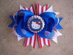 Hello Kitty 4th of July Hair Bow