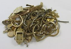 127.6 GRAM GOLD-FILLED JEWELRY SCRAP LOT - ALL MARKED, SOME PIECES USABLE