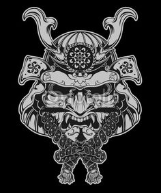 Japanese Samurai Warrior Mask | Samurai Mask by tairygreene, Royalty free vectors #21613546 on Fotolia ...