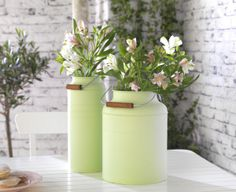 The IKEA SOCKER canisters come in a set of 2, in many different colors, and it can be a great vase for fresh flowers to brighten Mom's day.
