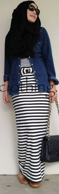 SALLY STRIPES SKIRT #Hijab