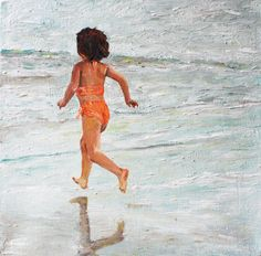 girl beach days Etsy oil painting canvas for by memorieswarehouse, €55.00
