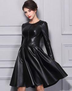 BAOYAN leather dress