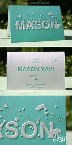 letterpers_letterpress_geboortekaartje_mason_mint-groen_preeg_olifantje