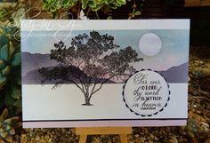 Calligraphy Cards - Shaz in Oz: Masking with Darkroom Door Gum Trees Stamp Set