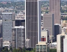 Starwood Capital Group has extensive renovation plans for Wells Fargo Center to bring it back to its former status as one of the most iconic Class A office towers in Portland. CBRE and Kidder Mathews will lease the tower. Wells Fargo Center, Photo Reference, Portland, Skyscraper, Finance, Multi Story Building, Tower, Architecture, Arquitetura