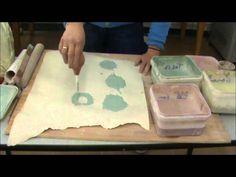Mono printing onto clay using slips part 1