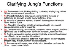 Jung's Functions for MBTI