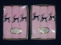 Pink poodle, finger tip towels.