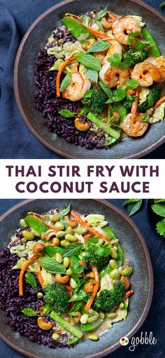 Gobble | Thai Stir Fry With Coconut Sauce | Dinner in 15 Minutes | Dinner For Two | Quick and Easy Recipes | New Recipes To Try | Cook At Home | Food Delivery Services | Healthy Meals Made With Fresh Ingredients | What To Have For Dinner | Dinner Recipes And Ideas | Easy Dinner Recipes | Gourmet Meals | $50 OFF