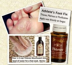 young living essential oils for athlete's foot