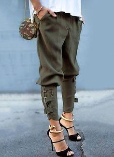Straight Polyester Pants Pants & Leggings