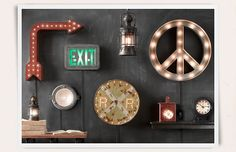 Light Up Rooms | Restoration Hardware Baby & Child-I'm thinking...on back & side of garage at Christmastime!!