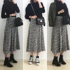 ファッション ファッション in 2020 Winter Fashion Outfits, Look Fashion, Fall Outfits, Casual Outfits, Fashion Art, Korean Girl Fashion, Muslim Fashion, Modest Fashion, Long Skirt Fashion