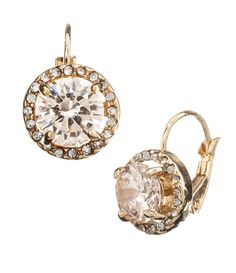 Tivoli Champagne CZ Round-Cut Drop Earrings | Dillards.com