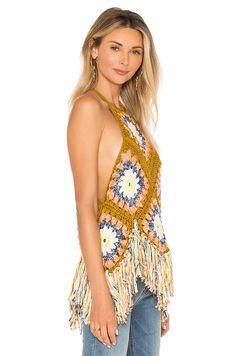 Free People Summer Of Love Halter en Multi Crop Tops, Tank Tops, Revolve Clothing, Summer Of Love, Crochet Top, Free People, Crochet Patterns, My Style, Bikinis