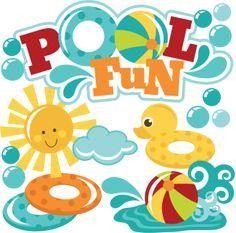 Pool Fun SVG files for scrapbooking pool svg files beach ball svg file sun svg file swimming svg files