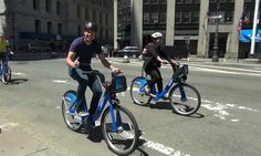 Image and video from Citibike's launch in New York City.