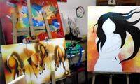 Clases de pintura al óleo y acrílico, todas las edades y estilos.