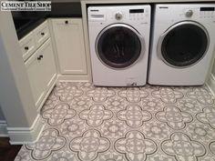 Cement Tile Shop - Handmade Cement Tile | Custom Roseton Pattern. Call (800) 704-2701 to create your custom tiles!