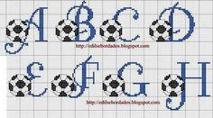 punto cruz bebes futbol - Buscar con Google