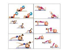 ćwiczenia z piłką na kręgosłup - Szukaj w Google