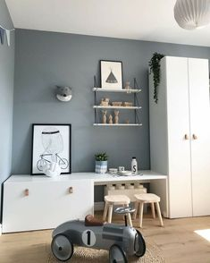 Stunning kidsroom, interior design, Scandinavian style - Kinderzimmer - Deco Home Baby Bedroom, Kids Bedroom, Bedroom Ideas, Ikea Girls Room, Trendy Bedroom, Nursery Ideas, Ikea Stuva, Cool Kids Rooms, Wardrobe Doors