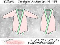 "Ebook Cardigan ""Julchen"" Gr. 92 -152"