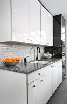 modern galley kitchen design contemporary kitchen chicago normandy remodeling stripe of dark. beautiful ideas. Home Design Ideas