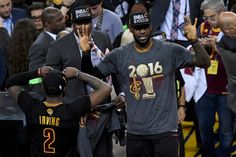 LeBron James Photos - LeBron James #23 of the Cleveland Cavaliers reacts after defeating the Golden State Warriors 93-89 in Game 7 of the 2016 NBA Finals at ORACLE Arena on June 19, 2016 in Oakland, California. NOTE TO USER: User expressly acknowledges and agrees that, by downloading and or using this photograph, User is consenting to the terms and conditions of the Getty Images License Agreement. - 2016 NBA Finals - Game Seven