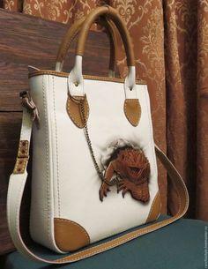 cc31e49bbb68 Женские сумки ручной работы. Ярмарка Мастеров - ручная работа. Купить сумка  женская кожаная. Handmade. Белый, с рисунком, апликация