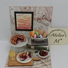 2017. Miniature Food♡ ♡  By Atelier M