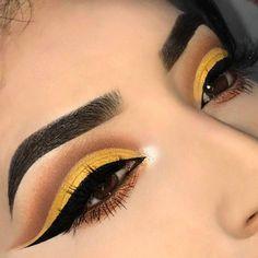 Morphe x Jaclyn Hill Lidschatten-Palette - Augen Makeup Matte Eye Makeup, Yellow Eye Makeup, Yellow Eyeshadow, Colorful Eye Makeup, Eye Makeup Tips, Makeup Goals, Makeup Inspo, Eyeshadow Makeup, Makeup Inspiration