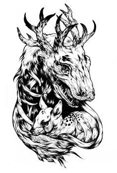 Unholy project by Maria Surkova, via Behance