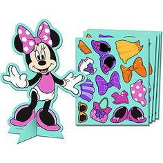 Our Minnie's Bow-tique Activity Kit will be the highlight of your party. Each kit includes 4 paper dolls that measure 5 inches high and 4 sheets of stickers.