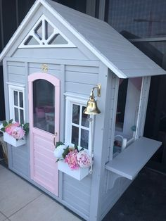 3 Minutes to Hack Flower House - Unlimited Kids Cubby Houses, Kids Cubbies, Play Houses, Girls Playhouse, Diy Playhouse, Kmart Decor, Kids Play Kitchen, Wendy House, Backyard For Kids