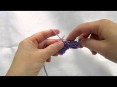 Really Clear: Continental Purling (Yarn in Left Hand)