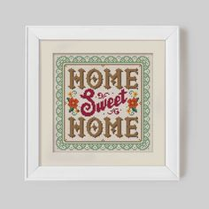 Home Sweet Home - Cross Stitch Pattern (Digital Format - PDF) by Stitchrovia on Etsy https://www.etsy.com/listing/187360461/home-sweet-home-cross-stitch-pattern
