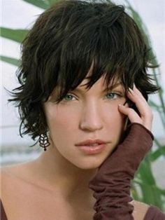 Sexy Short Wavy Natural Wig 100% Human Hair about 8 Inches Makes You More Charming Item # W1367  Original Price: $420.00 Latest Price: $142.99