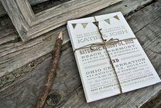 Wedding Invitation Rustic Flag Banner  Browns by WideEyesDesign, $2.00